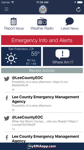 Lee County EMA App for your Smart Phone on Andriod or Apple